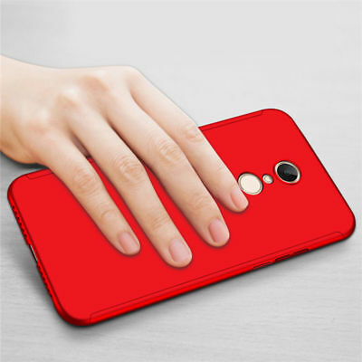 For Xiaomi Redmi 7 7A 6A Note 8 7 6 5 Pro 360° Full Cover Case + Tempered Glass 10