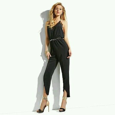 0223563b7c NWT GUESS BY MARCIANO ORANGE Samantha Lace Jumpsuit SIZE 6 -  96.99 ...