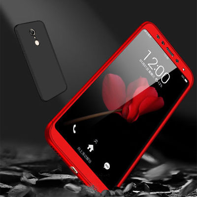 360° Full Cover Case + Tempered Glass For Xiaomi Redmi 4X 5 Plus 6A Note 6 7 Pro 8