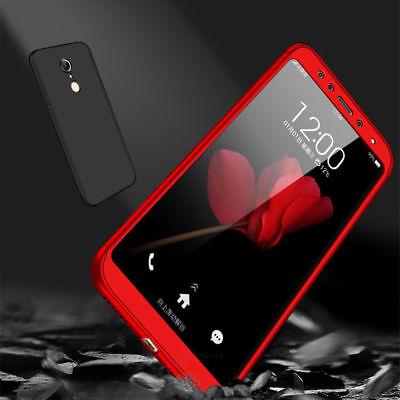 For Xiaomi Redmi 7 6A 5 4X Note 7 6 5 Pro 360° Full Cover Case + Tempered Glass 9