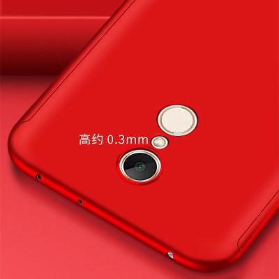For Xiaomi Redmi 7 7A 6A Note 8 7 6 5 Pro 360° Full Cover Case + Tempered Glass 11