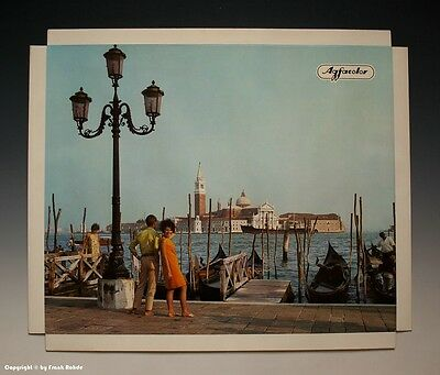 Konvolut 5 x Agfacolor Reklame Aufsteller Urlaubsmotive um 1970-1971 2
