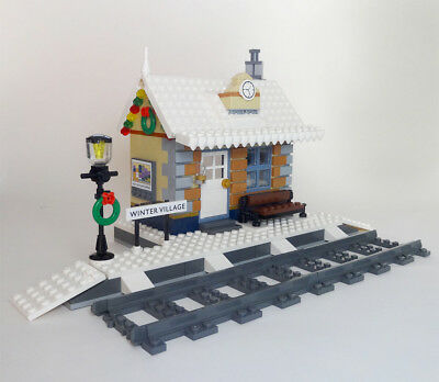 LEGO WINTER VILLAGE Train Station •PDF INSTRUCTIONS ONLY• like 10259, fits  10254