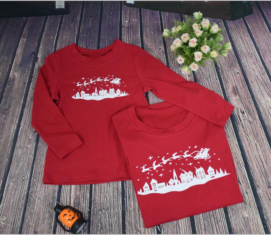 US Stock Family Match Christmas Adult Women Kid Sleepwear Nightwear Pajamas HOT 4