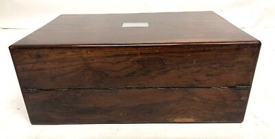 Antique Rosewood & Mother of Pearl Inlaid Writing Box / Slope for Restoration 7