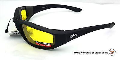 b74d51b92ebb ... Global Vision Kickback Foam Padded Riding Glasses Sunglasses Motorcycle  Biker 7