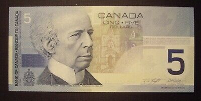 Canada 2001 BC-62a $5 Note ANZ4717114 - GemUnc 2