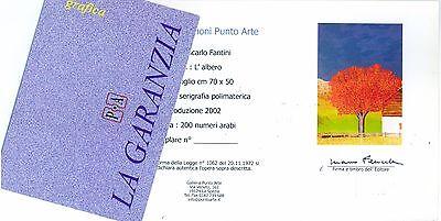 """GIANCARLO FANTINI- """"L'albero""""  - Serigrafia POLIMATERICA cm 50x70 5"""