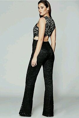 199ff840ef NWT GUESS BY Marciano black lace jumpsuit size 10 -  147.02