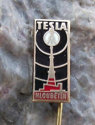 Details about  /1961 Tesla Hloubetin Czech TV Television Broadcasting 40th Anniversary Pin Badge