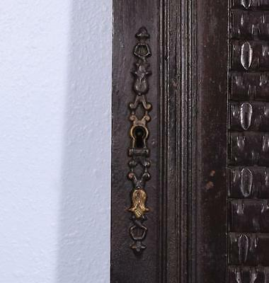 *Large French Antique Deeply Carved Architectural Panel Door Solid Oak Romantic 10