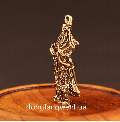 China Bronze Copper Fengshui  Guan Gong Yu Warrior God Immortal Pendant Amulet 4