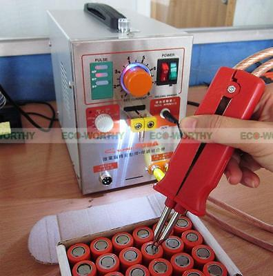 LED Pulse Spot Welder Weld 18650 Battery Welding Machine with Charger 110V 60A 8