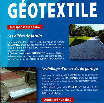 TOILE GÉOTEXTILE / Feutre / Bidim 1 mètre de large 110 gr M2 (vendu ...