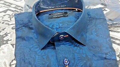 NWT Maceoo men/'s long sleeve button down shirt,Luxor abstract shapes multi sizes