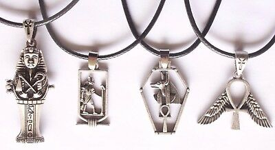 Ankh Egypt Anubis God Cartouche Ancient Egyptian Pendant Necklace Jewellery 2