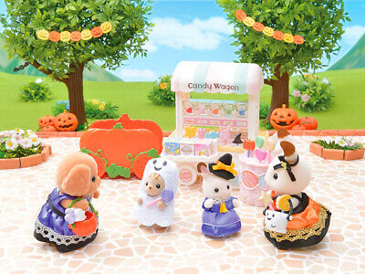 Sylvanian Families Calico Critters Halloween Baby Trick Or Treaters Set 4
