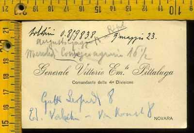 Autografo storia Fiume militare D' Annunzio gen. Vittorio Emanuele Pittaluga