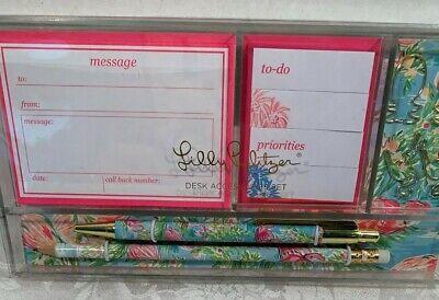 Lilly Pulitzer Desk Accessory Set Flamingo Pattern Retail $26.00 NWT 5