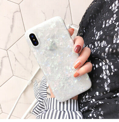 For iPhone 8 7 Plus XS MAX XR Marble Shockproof Silicone Soft Phone Case Cover 6