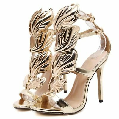 gladiator 13 cm Sexy Gold Gelb peeptoes fetish sky sandals high heels 43 42 us11 12