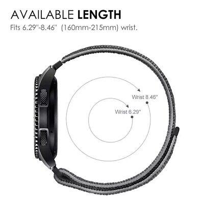 ✅ Für AMAZFIT Smartwatch Bip Lite GTS / GTR Armband 20mm 22mm Nylon Loop ✅ 8