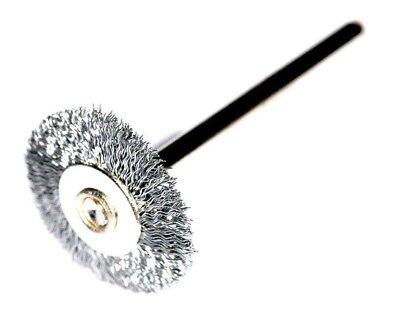 10pcs  25mm Steel Wire Wheel Brush Dremel Rotary Tool 2