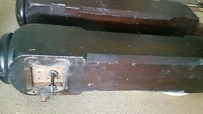 """Pair of 27"""" Antique Solid Wood Newel Baluster Posts, Pillars or Columns 7"""