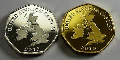 Pair of CONWY CASTLE Commemoratives. 24ct Gold. Silver. Albums/Filler NEW 2019 2