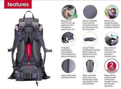 2867e57d758 PHIL   TEDS Escape Child Backpack Carrier Red   Grey NEW -  249.99 ...