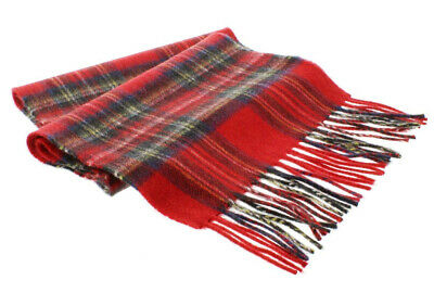 Womens Mens Winter 100% Cashmere Plaid check Scarves Wool Scarf Scotland Made 4
