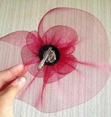 dark red maroon burgundy flower fascinator millinery brooch clip wedding hat 4