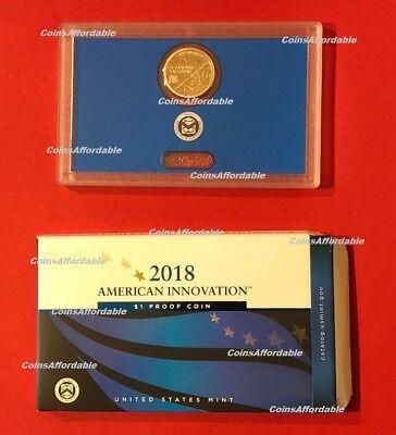 2018 S PROOF American Innovation Dollar $1 in US Mint OGP w/ COA 5
