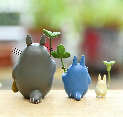 3pcs/Set Anime My Neighbor Totoro Resin Mini Figures Cosplay Model Doll 3