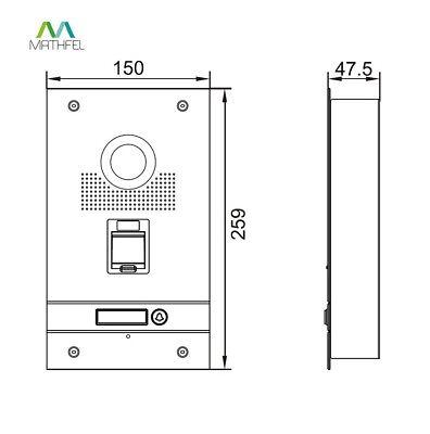 Fingerprint Video Türsprechanlage mit 7″ Monitor (weiß) und WLAN 3