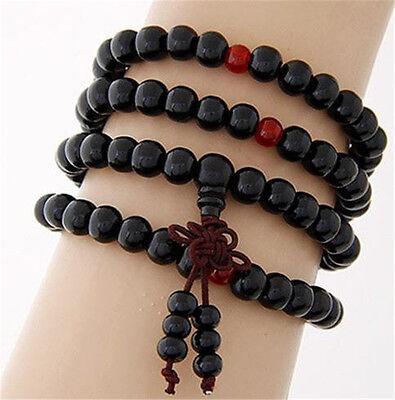 Sandalo Buddista Meditazione 6mm 108Preghier Perlina Mala Bracciale/Collana *SP 11