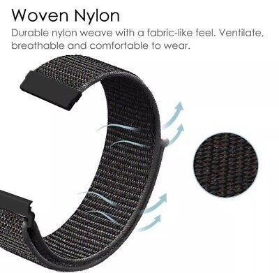 ✅ Für AMAZFIT Smartwatch Bip Lite GTS / GTR Armband 20mm 22mm Nylon Loop ✅ 7
