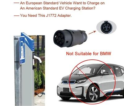 Electric Car Charger Adapter SAE J1772 32A 240V Connector Socket Charging Plug 5