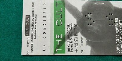 THE CULT  UNUSED TICKET  Spain FREE SHIPPING WORLDWIDE WITH TRACKING 4