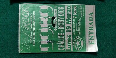 DORO CHALICE MOBY DICK UNUSED TICKET Spain FREE SHIPPING WORLDWIDE WITH TRACKING 2