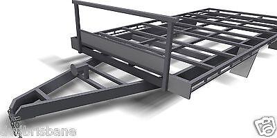 Trailer Plans- 4.8m FLAT TOP TRAILER PLANS- PRINTED HARDCOPY-Car Trailer,Flatbed 4