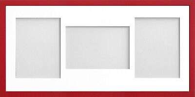 Frame Company Jellybean Red Wooden Multi Aperture Collage Photo frame & Mount 6