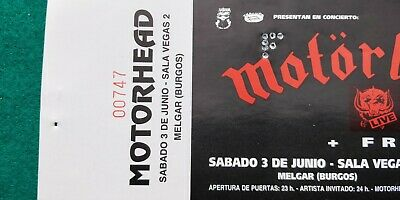 MOTORHEAD LEMMY UNUSED TICKET  Spain FREE SHIPPING WORLDWIDE WITH TRACKING 4