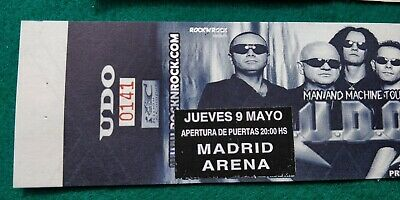 UDO 2002 UNUSED TICKET Spain FREE SHIPPING WORLDWIDE WITH TRACKING 4