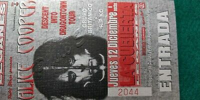 ALICE COOPER UNUSED TICKET Spain FREE SHIPPING WORLDWIDE WITH TRACKING 3