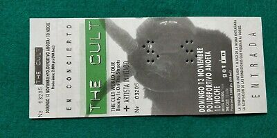 THE CULT  UNUSED TICKET  Spain FREE SHIPPING WORLDWIDE WITH TRACKING 2