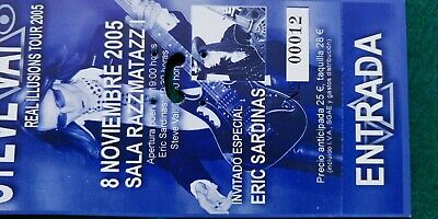 STEVE VAI 2005 UNUSED TICKET  Spain FREE SHIPPING WORLDWIDE WITH TRACKING 2