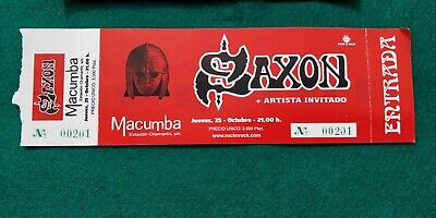 SAXON   UNUSED TICKET  Spain FREE SHIPPING WORLDWIDE WITH TRACKING 2