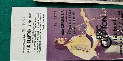 ERIC CLAPTON  UNUSED TICKET  Spain FREE SHIPPING WORLDWIDE WITH TRACKING 3