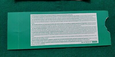 NAPAL DEATH  UNUSED TICKET Spain FREE SHIPPING WORLDWIDE WITH TRACKING 5